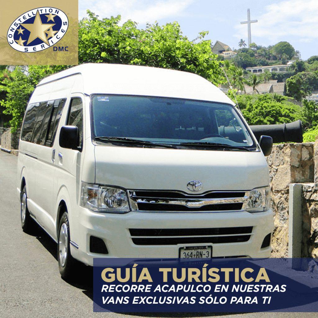 Guía turística en Acapulco con Servicio de Autocar