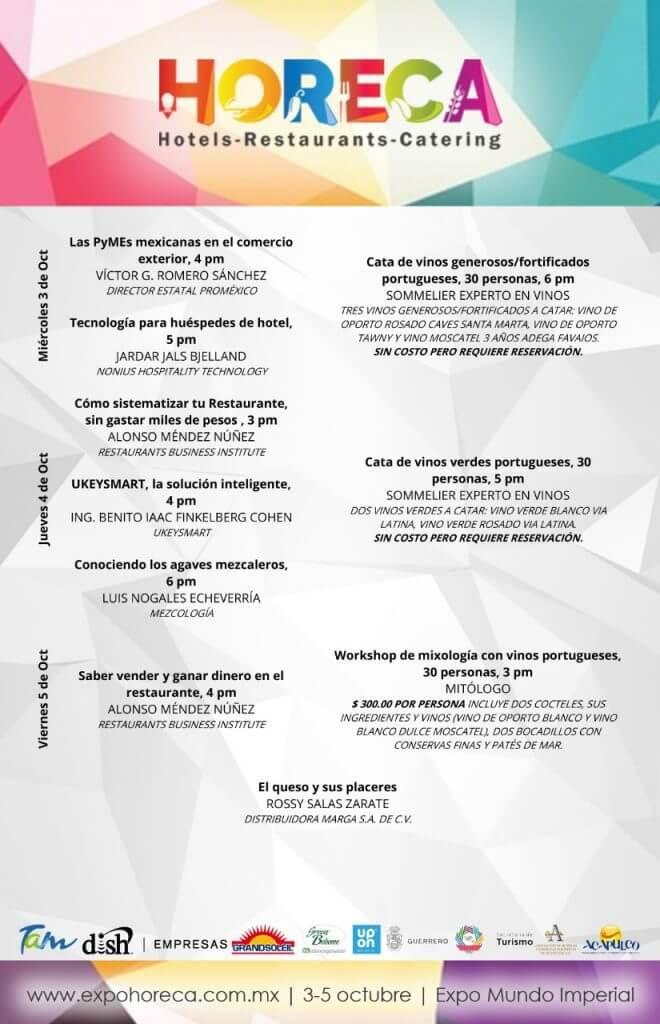 Agenda HORECA Acapulco 2018 - 3 al 5 Oct, 2018